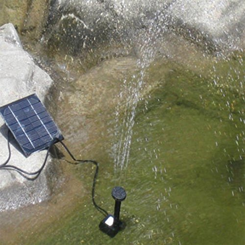 Nesee Solar Power Pool Garden Pond Watering Submersible Water Panel Fountain Pump Kit (Black) by Nesee