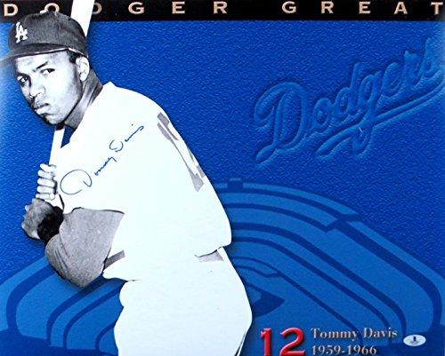 Tommy Davis Signed Autographed 16X20 Photo LA Dodger Great 1959-1966 Beckett
