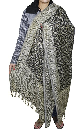 Les femmes de la mode foulard bleu - indien écharpe de soie wrap châle fait à la main - 214 x 76 cm