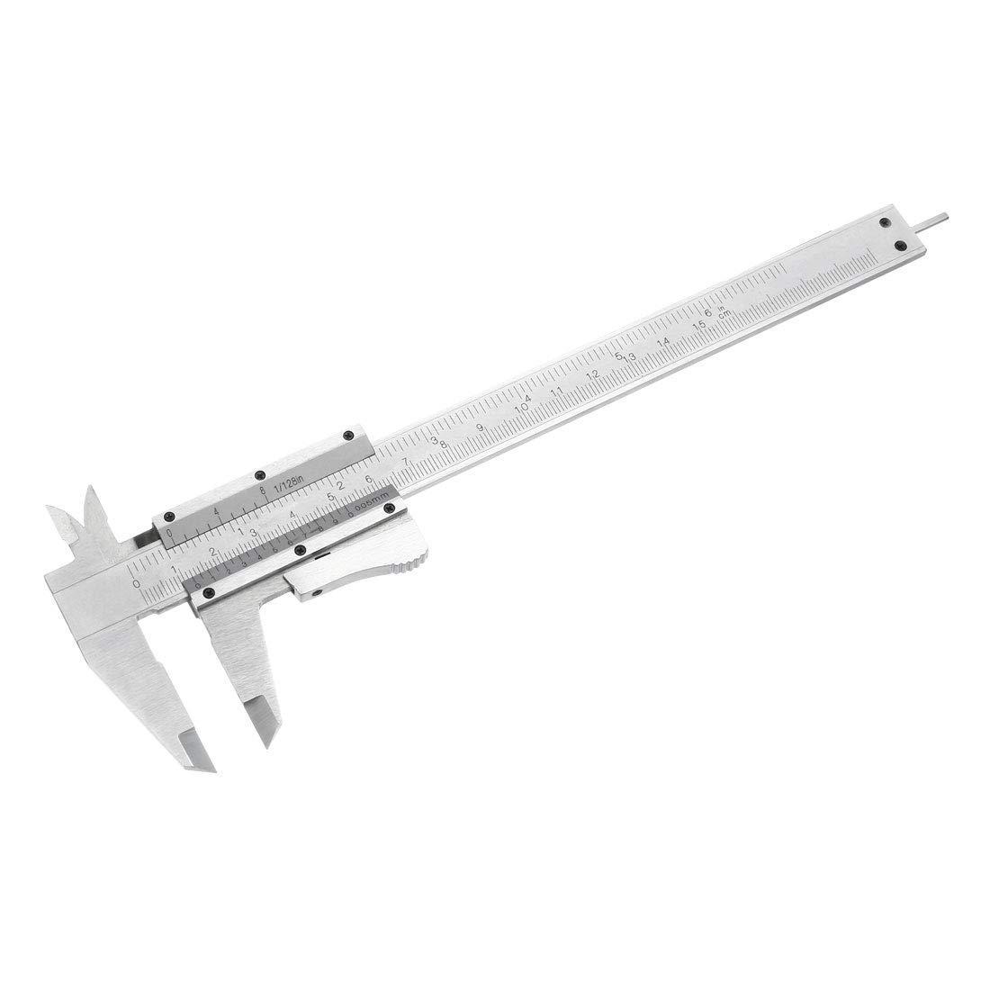 Vernier Caliper 6 Inch 150mmX 0.05mm Carbon Steel Gauge Measuring Tool for Precision Measurements Outside Inside Depth