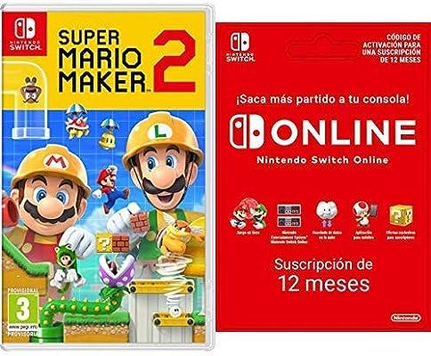 Super Mario Maker 2 [Nintendo Switch] + Switch Online 12 Meses [Codice Download]: Amazon.es: Videojuegos