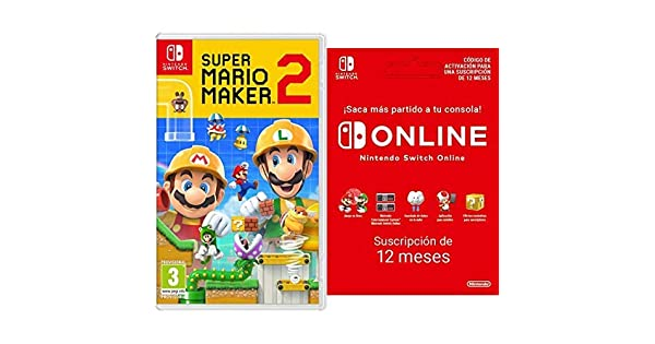 Super Mario Maker 2 [Nintendo Switch] + Switch Online 12 Meses [Codice Download]: Amazon.es: Videojuegos
