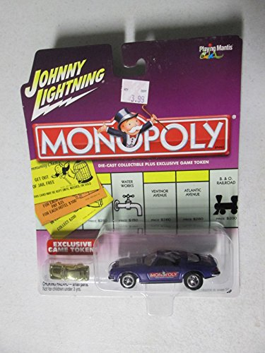 Johnny Lightning Monopoly Mediterranean Ave. Die Cast Car W/
