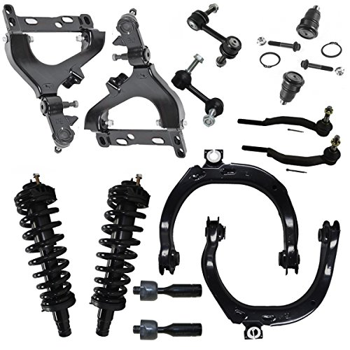 Detroit Axle - Brand New 14pc Complete Front Suspension Kit for Chevy Trailblazer and GMC Envoy w/ 16mm Thread ()