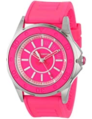 Juicy Couture Womens 1900872 Rich Girl Neon Pink Jelly Strap Watch