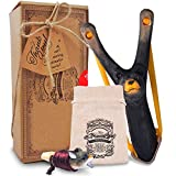 aGreatLife Wooden Bear Slingshot and Whistle for Kids