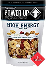 Power Up High Energy Trail Mix, Keto-Friendly, Vegan, Gluten-Free, Non-GMO, 14 Oz (Pack of 6)