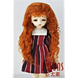 D28002 6-7'' 16-18CM Monghanjuc mohair doll wigs 1/6 YOSD Long curly doll wigs (Carrot)