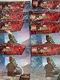 Party Favors/Party Treats Lego Marvel Super Heroes Avengers Infinity War Teen Groot Keychain.Bundle of 8