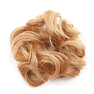 Bella Hair 100% Human Scrunchie Bun Up Do Hair Pieces Wavy Curly or Messy Ponytail Extension