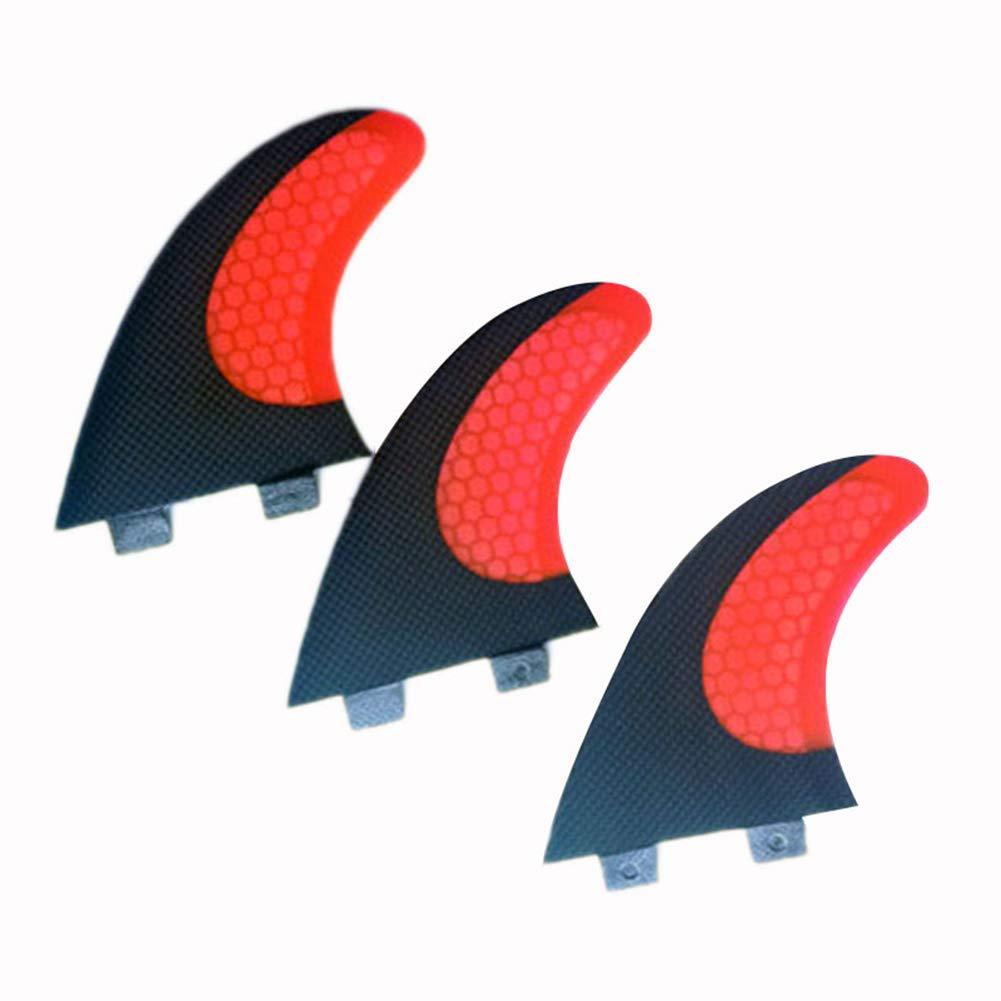 ONCEFIRST Fibreglass Surfboard Fins Thruster FCS G5 (3 Fins) Red M