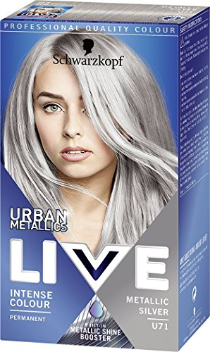 Schwarzkopf Urban Metallics Live Hair Colour, U71 Metallic Silver, Pack of...