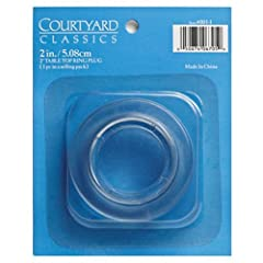Patio Table Top Ring & Plug, Place The Ring In The Umbrella Hole On Your Patio Table Top, Insert The Plug When You Are Not Using The Umbrella, For Use With Any Agio Table With An Umbrella Hole, Durable Plastic Construction That Is Stain R...