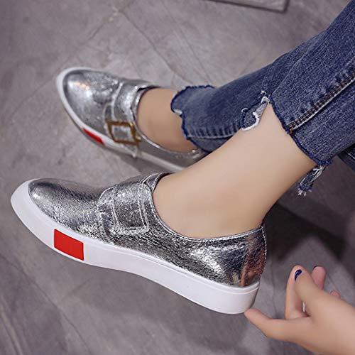 Loafer Mocasines Silver Casual Zapatos Para Diario Deporte Mujer De Plataforma Oficina Uso Y xZwdTpqE