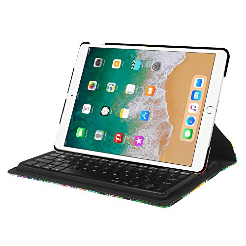 Fintie iPad Pro 10.5 Keyboard Case - 360 Degree Rotating Stand Cover Built-in Wireless Bluetooth Keyboard Apple iPad Pro 10.5 inch 2017 Tablet, Love Tree by Fintie (Image #7)