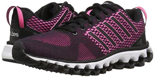 K-Swiss Women's x-180 Cross-Trainer Shoe, Black/Neon Pink/Silver, 9.5 M US
