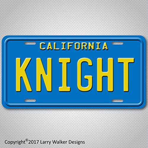 Knight Rider 82 Trans Am KITT Replica Prop Aluminum License Plate Tag