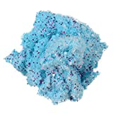 Clearance Kids Fluffy Slime Toy, Scented Putty Flat Beads Mud Toy Stress Relief Snow Powder Sludge Clay Toy for Children Adults (Blue)
