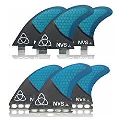 We carry a wide selection of templates because there is no single fin template that is perfect for everyone. All NVS Fins are designed in house and tested worldwide.The SeriesIII Foiled JL Thruster surfboard fin is a medium sized templ...