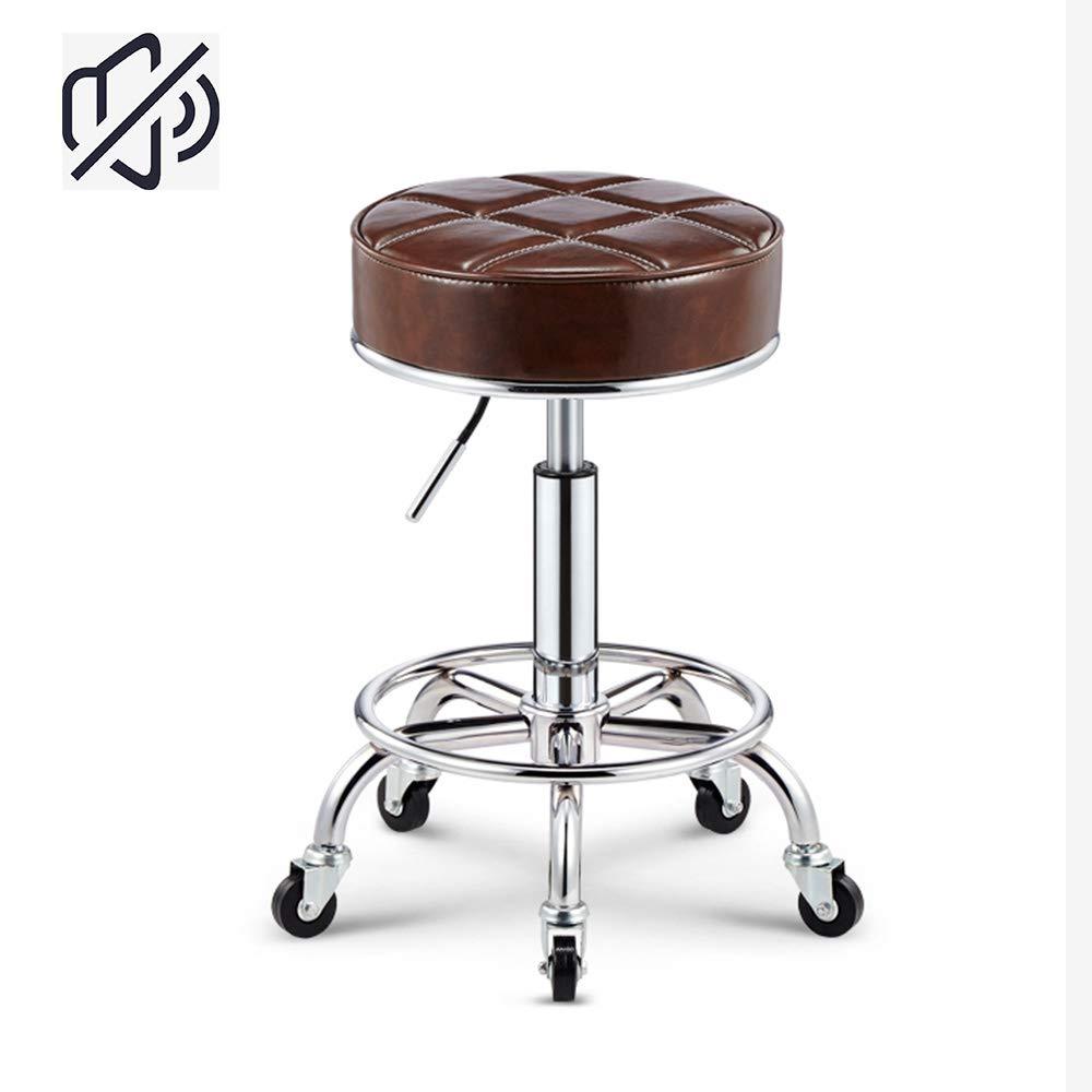 WHOME Sedile Sportivo Rotondo Sedia elevabile mobili per Ufficio Sgabello Regolabile Sgabello elevabile mobili per Ufficio Sedile Sportivo Rotondo-Brown