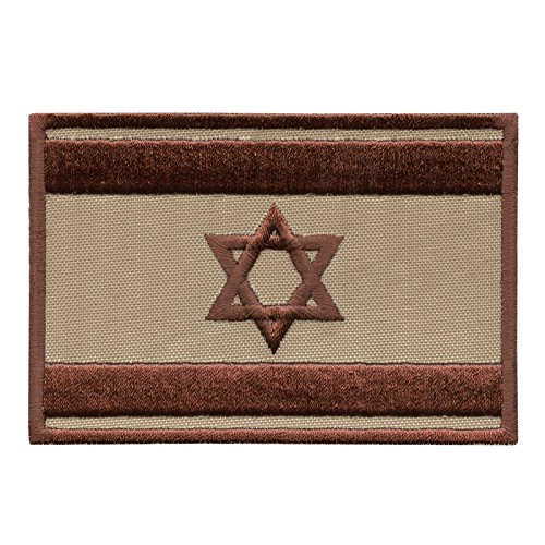 LEGEEON Israel Flag IDF Desert DCU Morale Star David Army Embroidery Touch Fastener Patch