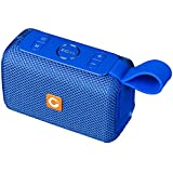 DOSS E-Go Portable Bluetooth Speaker Loud Volume, IPX6 Waterproof Rugged Home Outdoor, Built-in Mic. Perfect Wireless Speaker Phone, Tablet, TV More - Blue