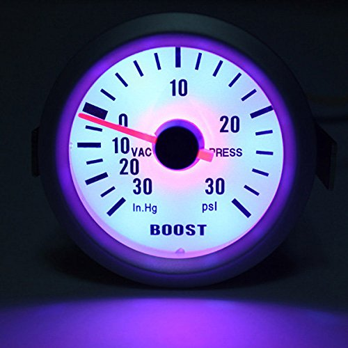 Auto Car Mechanical Boost Vacuum Gauge Autometer Ultra-lite Silver - Autometer Ultra Lite Boost