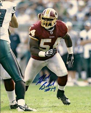 Autographed HB Blades 8X10 photo Washington Redskins ()