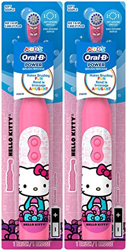 Oral B Zooth Power Toothbrush - Hello Kitty - 2 pk