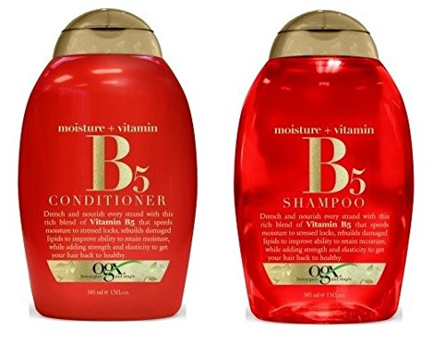 OGX Vitamin B5 Plus Moisture Shampoo and Vitamin B5 Conditioner 13 Oz [ Bundle of 2 Items]
