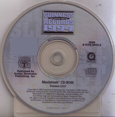 Guinness Multimedia Disc of Records 1994: Macintosh CD-ROM, Version 2.0.0