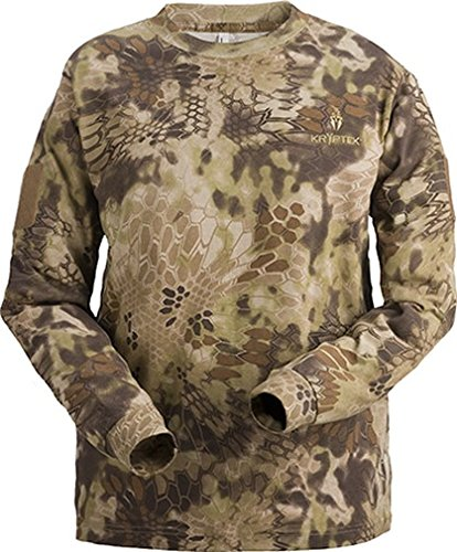 About Hunting T-shirt - Kryptek Stalker Men's Long Sleeve Shirt Highlander Camo Medium