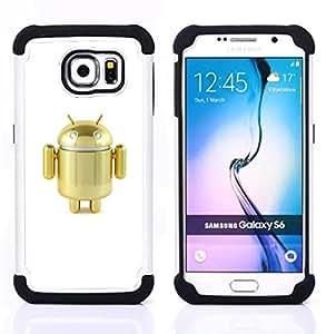 - mini robot golden cute air toy - - Doble capa caja de la armadura Defender FOR Samsung Galaxy S6 G9200 RetroCandy