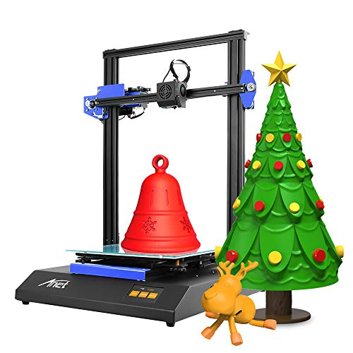 Anet ET5X 3D Printer, DIY 3D Printer with Dual Z-axis Design, 25 Point Auto Leveling, Online & Offline Print, 3.5 Inch LCD Color Touch Screen, 300x300x400mm