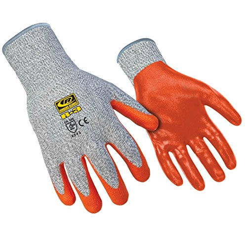 Ringers Gloves R-3 R-Flex Nitrile, High Dexterity Glove, Nitrile Dipped, CE Level 3 Cut Protection, Medium