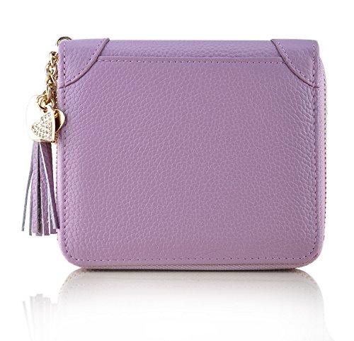 (MaxGear RFID Credit Card Holder for Women Leather Credit Card Wallet Zipper Credit Card Organizer Fashion Wallet …)