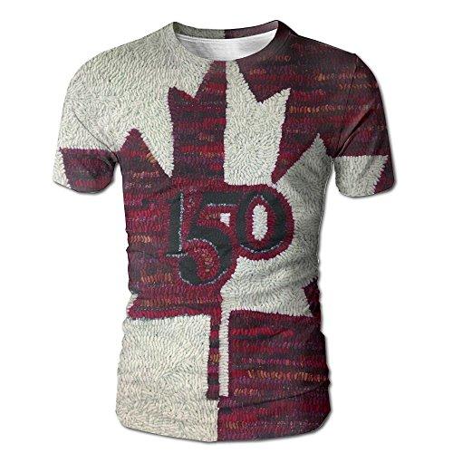 Canada 150 Wool Pattern New York Tshirt Men Tee T Shirt