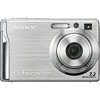 Sony Cybershot DSCW80 7.2MP Digital Camera with 3x Optical Zoom and Super Steady Shot (Silver) (OLD MODEL)