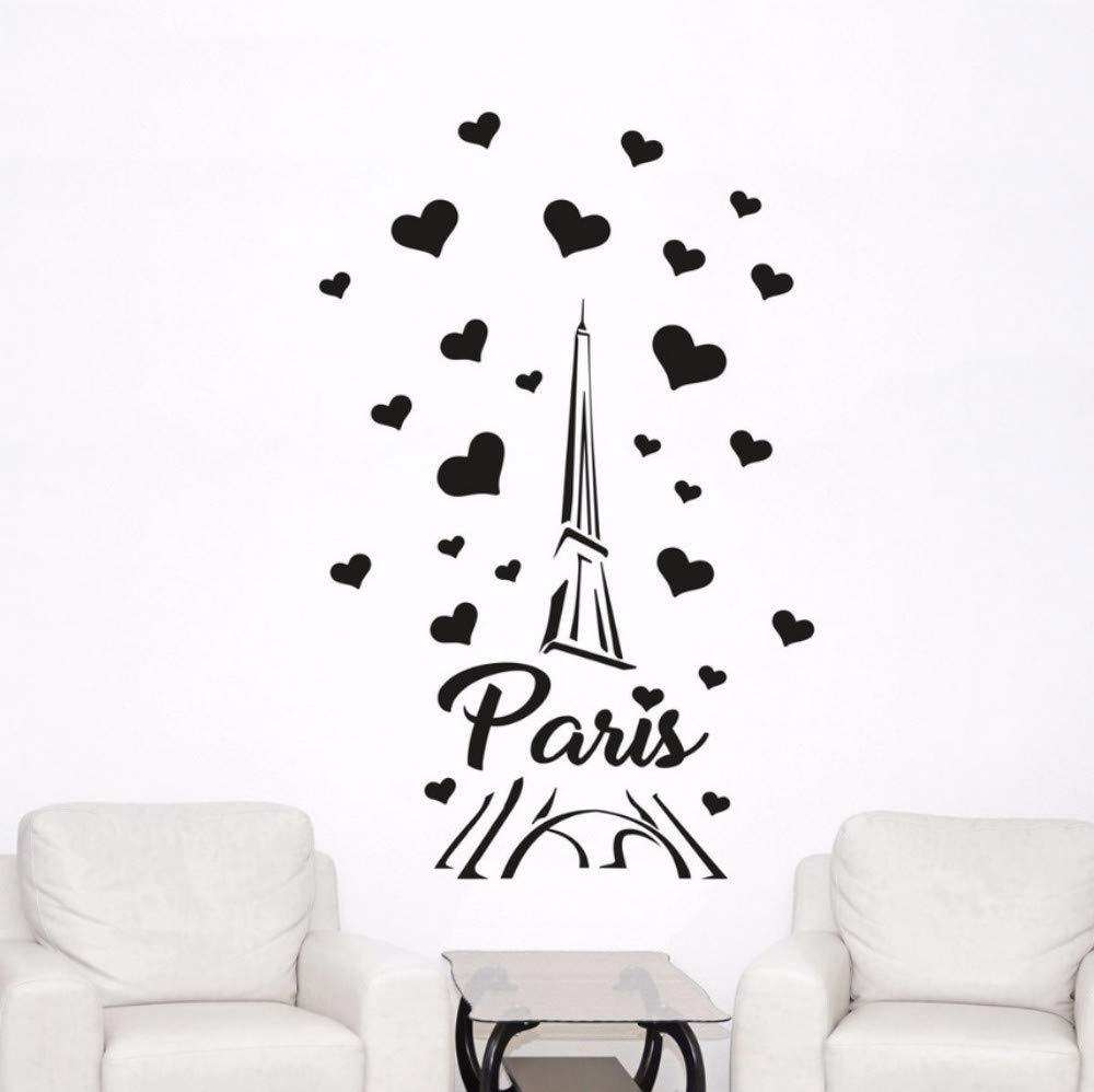 Etiqueta De La Pared, Dormitorio En Casa, Decoración, París, Papel Tapiz, Vinilo, Arte De Pared, 37X57 Cm