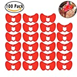 DIAOSnx® 100Pcs Chicken Pinless Peepers Poultry Glasses Blinders Spectacles Anti-Pecking Tool