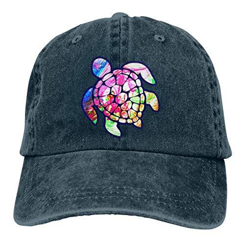 Women's Adjustable Baseball Cap Sea Turtle Tie Dye Visor Hat
