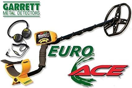 Garrett Euro Ace 350 - Detector de metales, color dorado + auriculares