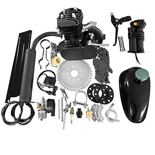 50cc 2-Stroke Motor Engine Kit Black for Motorized Bicycle Bike Petrol Gas Engine