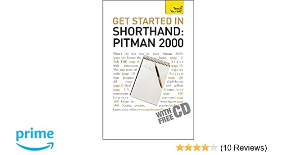 Get Started In Shorthand Pitman 2000 Teach Yourself Pitman