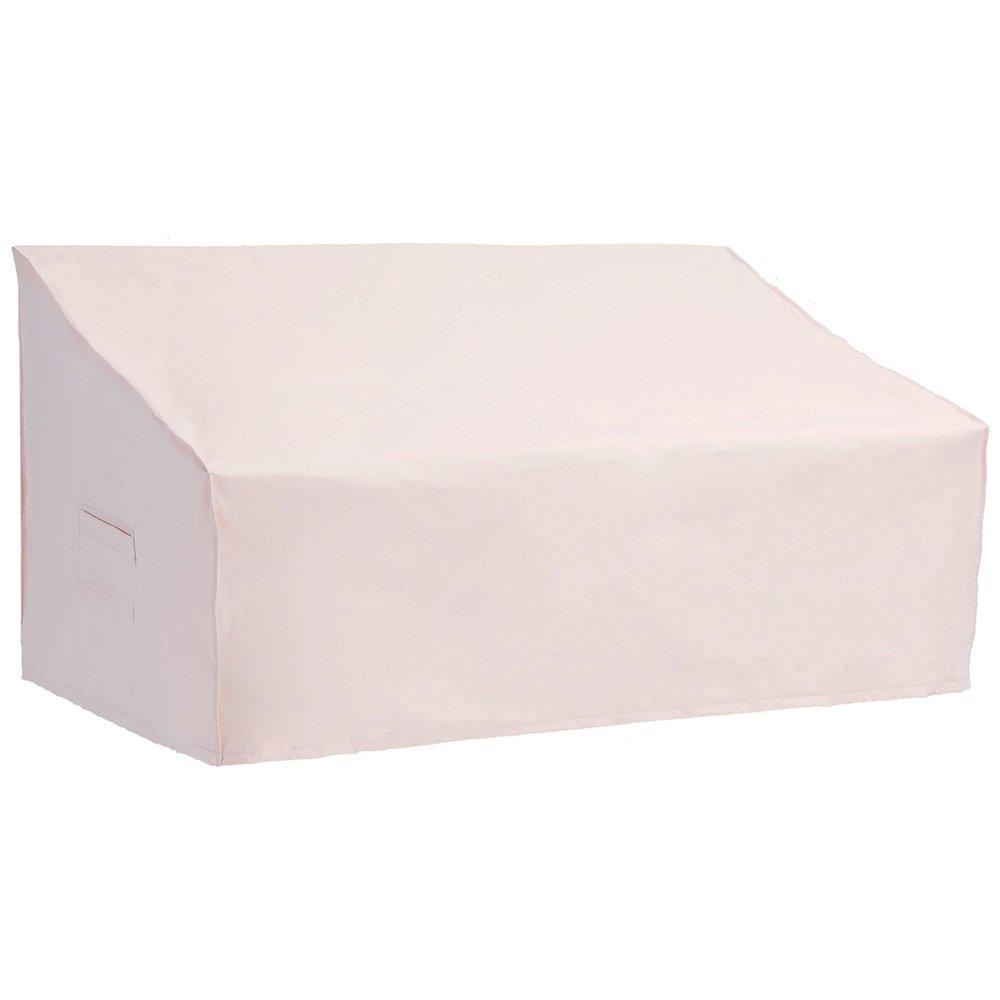 Patio Watcher Medium Outdoor Loveseat Bench Cover, Durable and Waterproof Patio Furnture Sofa Cover, Beige