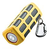 Outdoor Portable Wireless Bluetooth Speaker Waterproof with Power Bank, Built-in 7000mAh Rechargeable Battery, 20 Hours Playtime, Powerful Surround Hi-fi Sound with Enhanced Bass (Yellow)