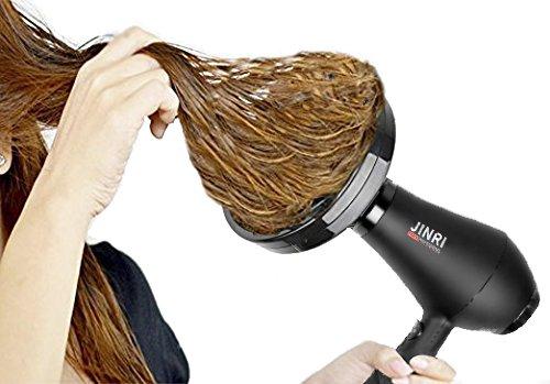 Jinri Salon Grade Professional Hair Dryer 1875W AC Motor Negative Ionic Ceramic Far Infrared Blow Dryer With 2 Speed and 3 Heat Settings Cold Shot Button, Diffuser and Straightening Comb...