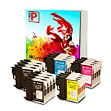 The Red P ® Compatible Ink Cartridge Replacement for Brother LC-61 LC61 LC65 XL High Yield (8 Black, 4 Cyan, 4 Magenta, 4 Yellow) 20 Pack LC61BK LC61C LC61M LC61Y for DCP-165C, DCP-375CW, DCP-385C, DCP-395CN, DCP-585CW, DCP-J125, DCP-J140W, MFC-250C, MFC-255CW, MFC-290C, MFC-295CN, MFC-490CW, MFC-495CW, MFC-5490CN, MFC-5890CN, MFC-5895cw, MFC-6490CW, MFC-6890CDW, MFC-790CW, MFC-795CW, MFC-990CW, MFC-J220, MFC-J265w, MFC-J270w, MFC-J410w, MFC-J415w, MFC-J615W, MFC-J630W Printers
