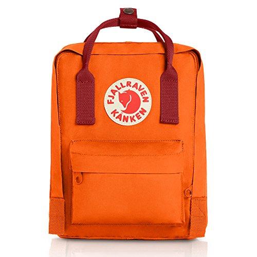 Dane Vintage Colors - Fjallraven - Kanken Mini Classic Backpack for Everyday, Burnt Orange-Deep Red