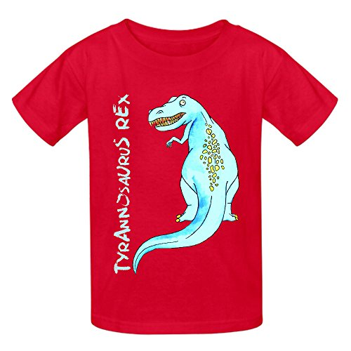 Dinoparty T Rex Girls Crew Neck Personalized Tees Red (Powerpuff Girls Sexy)